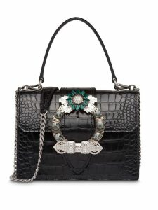 Miu Miu Miu Lady crocodile-effect bag - Black