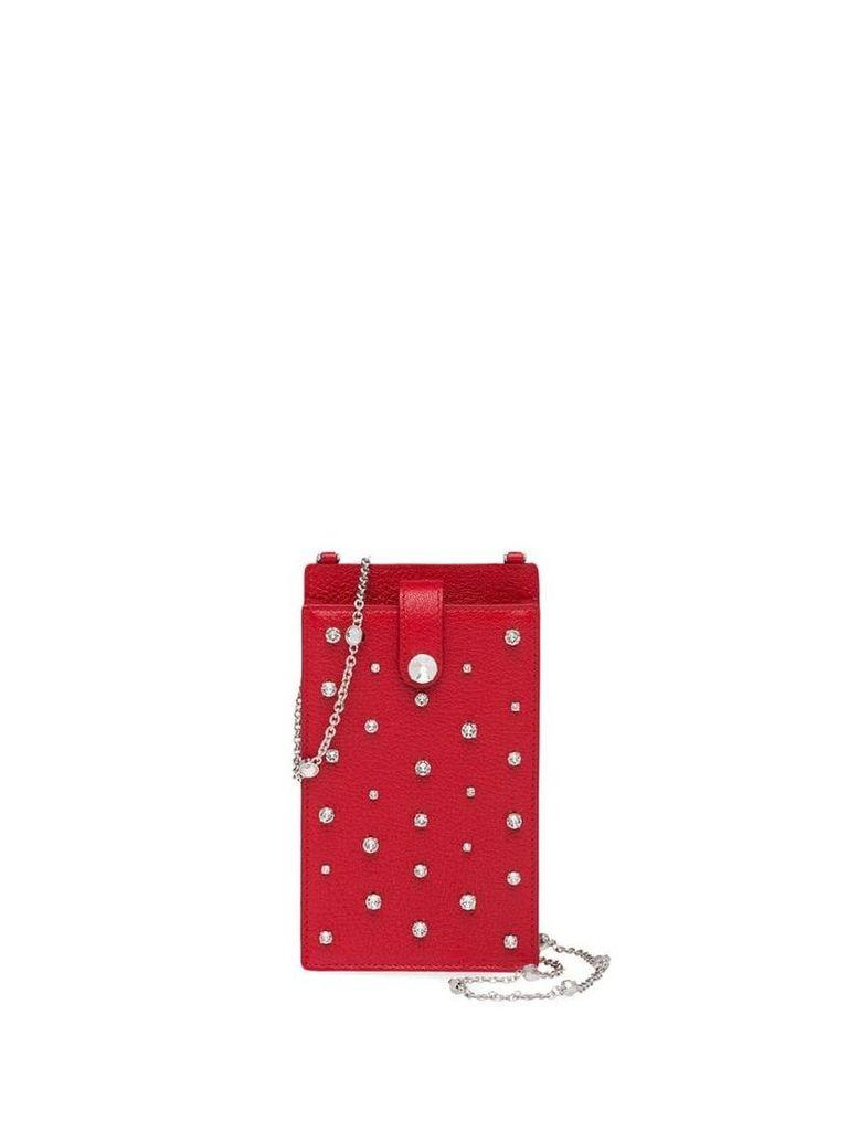 Miu Miu Madras leather mini shoulder bag - Red
