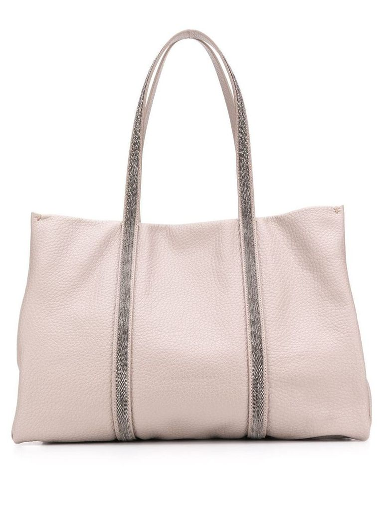 Fabiana Filippi beaded tote bag - Grey