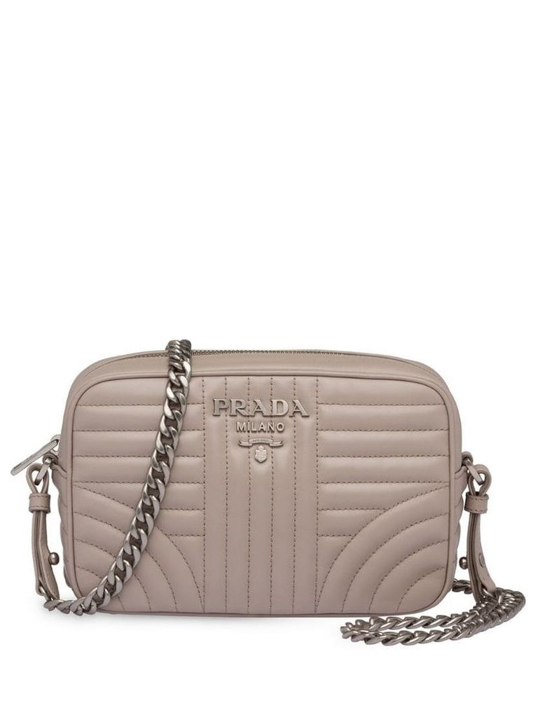 Prada Prada Diagramme leather cross-body bag - Grey