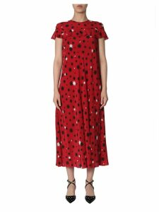 RED Valentino Long Dress With Ruches Detail