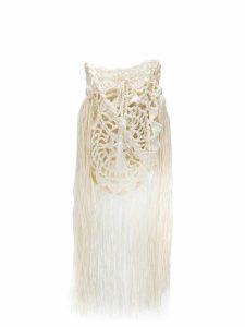 Alanui raffia crochet bag - White
