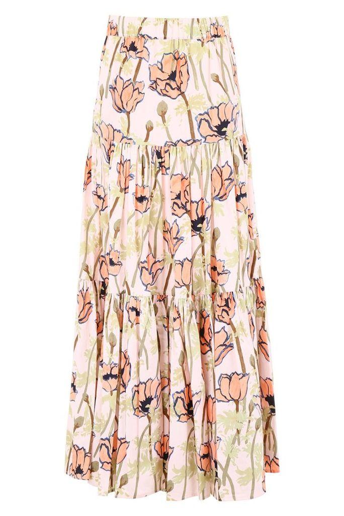 Tory Burch Poppy Print Skirt