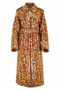 Burberry Fawn Print Raincoat