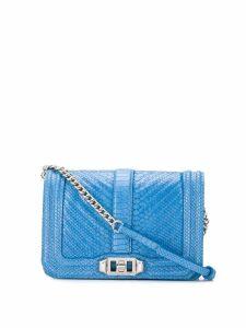 Rebecca Minkoff embossed python crossbody bag - Blue