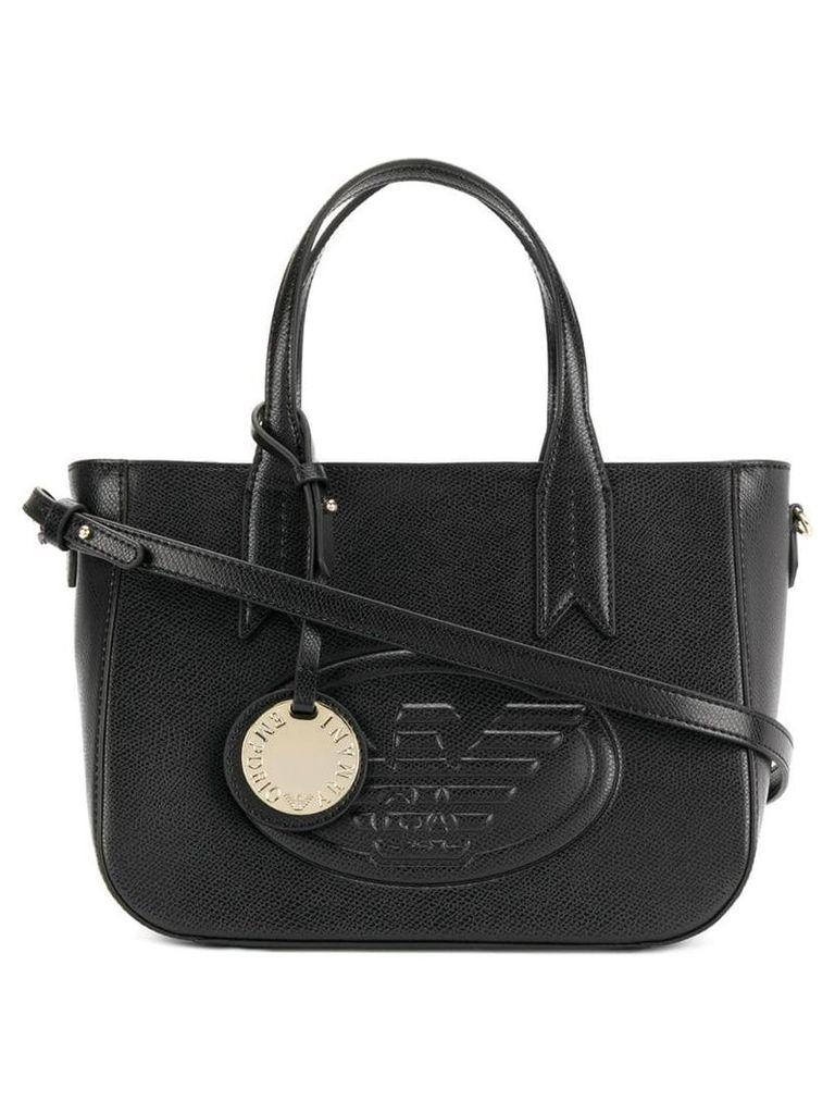 Emporio Armani logo tote bag - Black