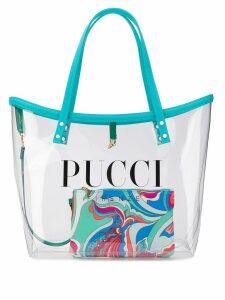 Emilio Pucci Transparent Logo Twist Tote - Blue