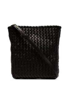 Bottega Veneta Brown intrecciato woven leather bucket bag