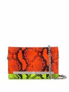 Casadei colour block crossbody bag - Orange