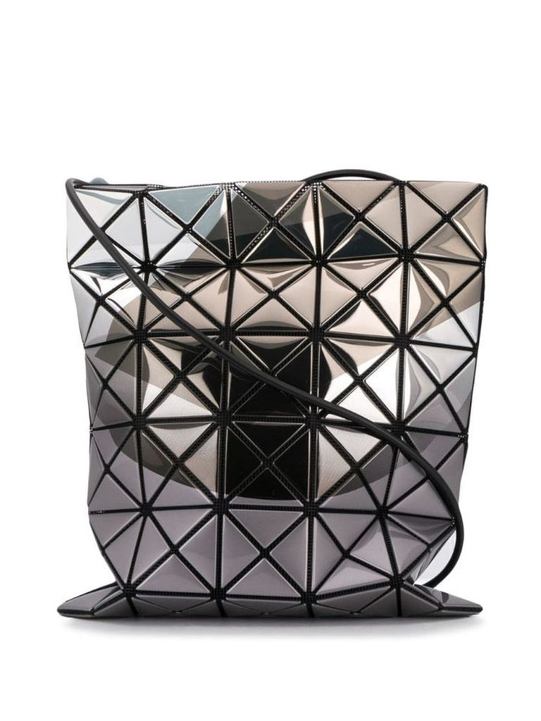 Bao Bao Issey Miyake iridescent cross body bag - Metallic