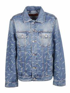 HERON PRESTON Printed Denim Jacket