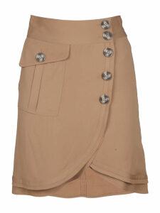 self-portrait Buttoned Skirt