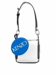 Kenzo colour block bucket bag - White