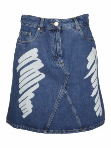 Moschino Brushstroke Denim Skirt