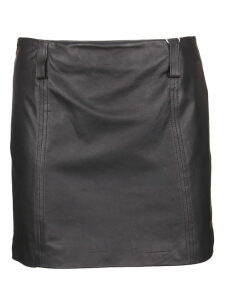 Vintage Deluxe Mini Leather Skirt