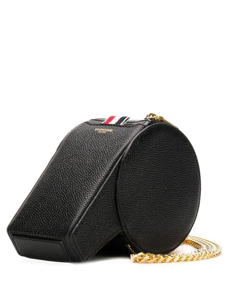 Thom Browne Pebbled Leather Whistle Bag - Black