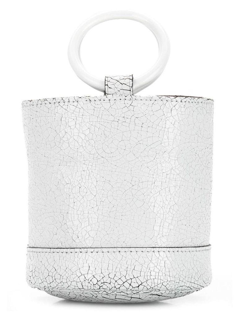 Simon Miller crackle effect mini bag - White