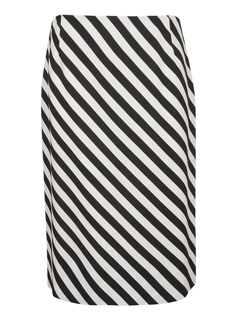 Dries Van Noten Diagonal Striped Skirt