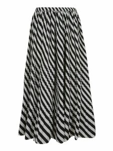Dries Van Noten Striped Print Skirt
