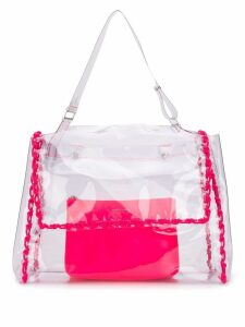 Orciani clear tote bag - Neutrals