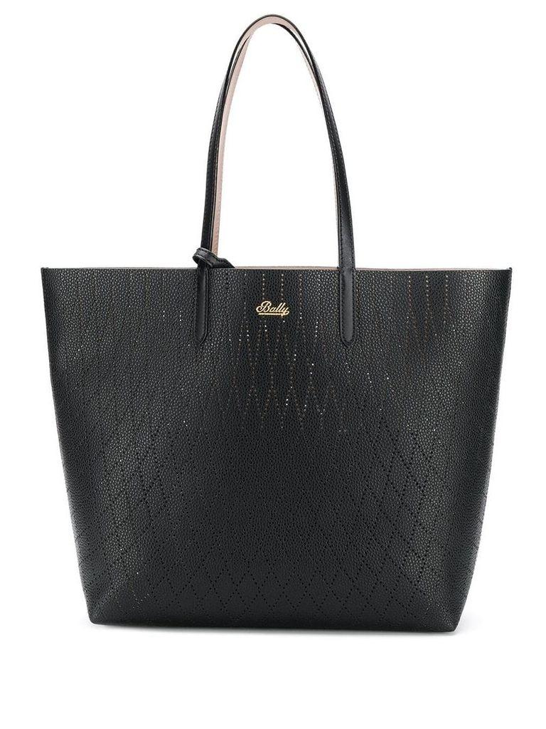 Bally two tone tote bag - Black