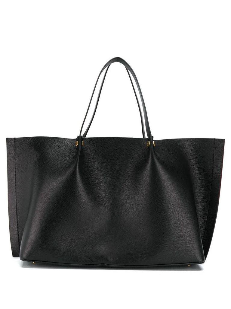 Valentino Valentino Garavani Go logo large shopper - Black