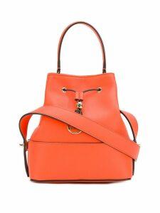 Emilio Pucci Orange Calf Leather Bonita Bucket Bag