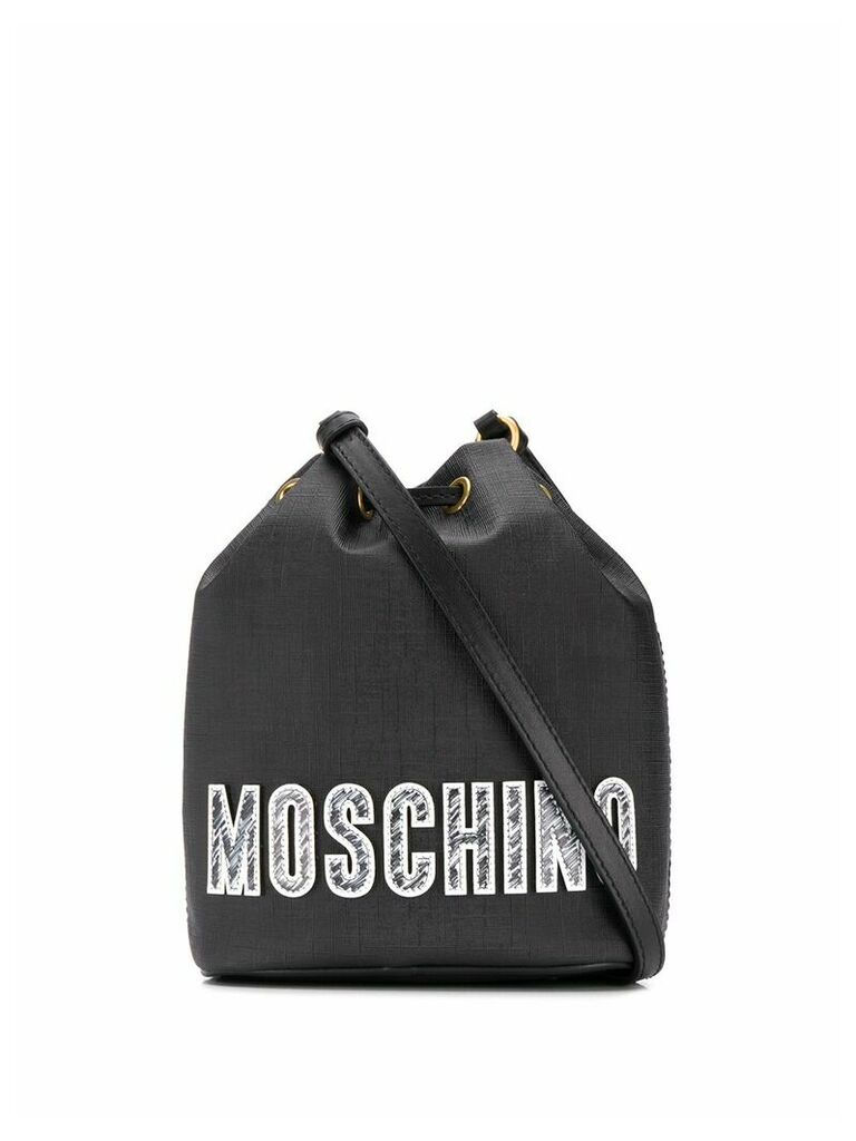 Moschino Teddy Bear bucket bag - Black
