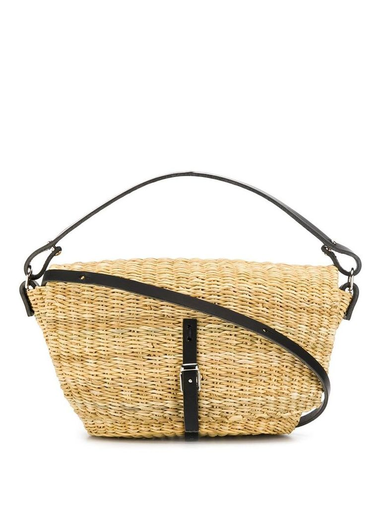 Muun Holly straw bag - Neutrals