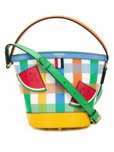Thom Browne Watermelon Appliqué Sand Bucket Bag - White