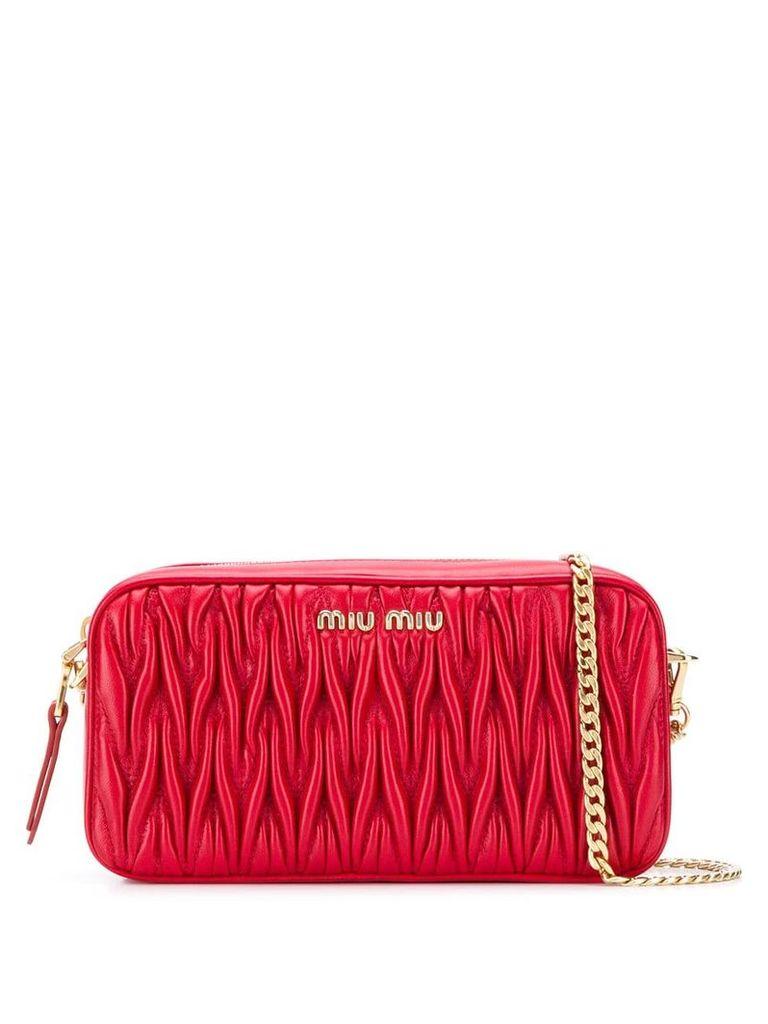 Miu Miu matelassé crossbody bag - Red