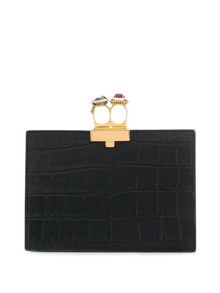 Alexander McQueen small jeweled clutch - Black