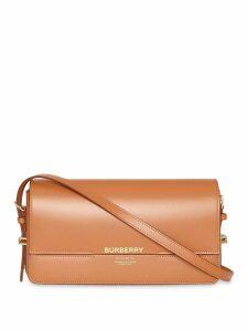 Burberry Mini Leather Grace Bag - Brown