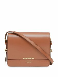 Burberry Small Two-tone Leather Grace Bag - Brown