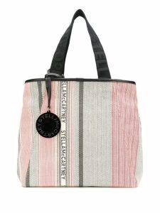 Stella McCartney striped tote bag - Neutrals