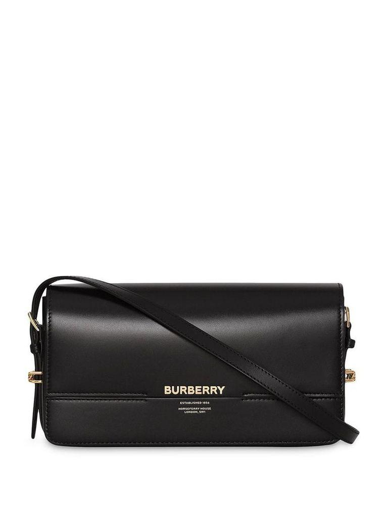 Burberry Mini Leather Grace Bag - Black