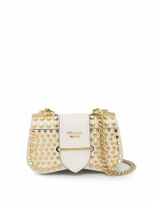 Prada Sidonie studded bag - White