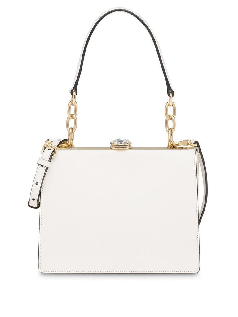 Miu Miu Miu Solitaire leather bag - White