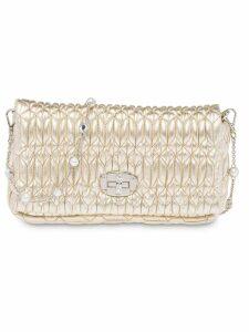 Miu Miu Miu Crystal shoulder bag - Gold