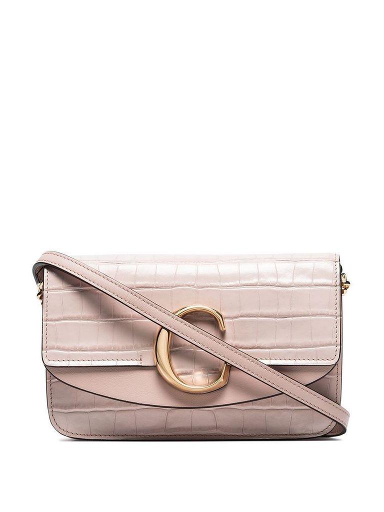 Chloé mini C ring shoulder bag - Pink