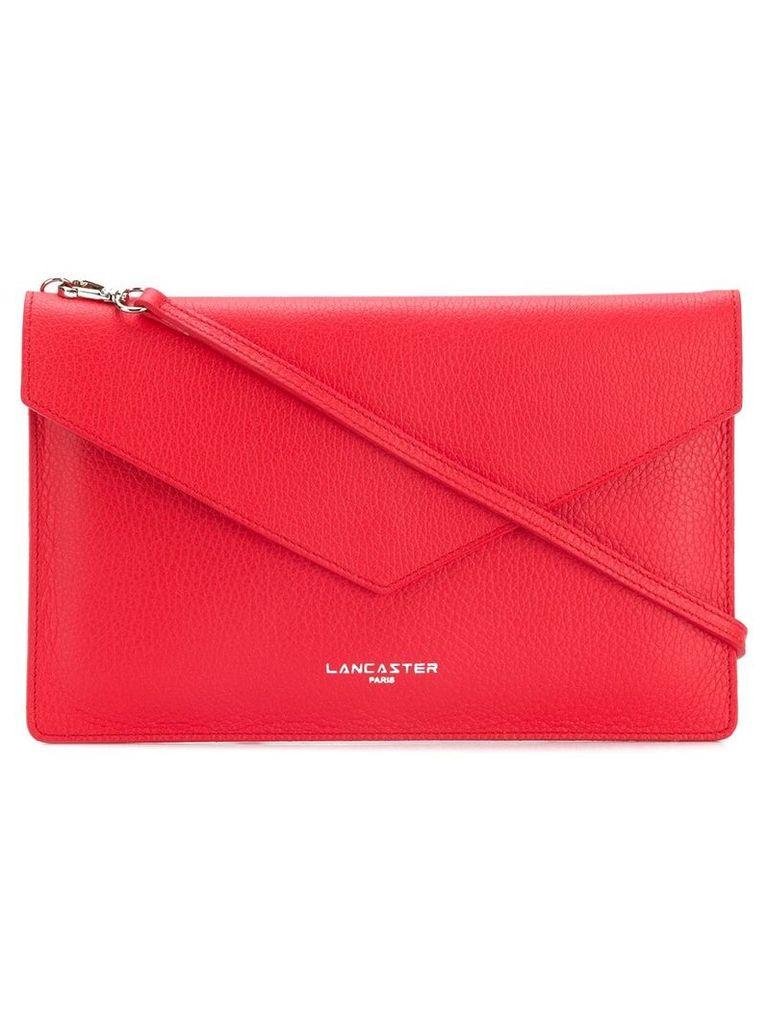 Lancaster foldover envelope clutch - Red