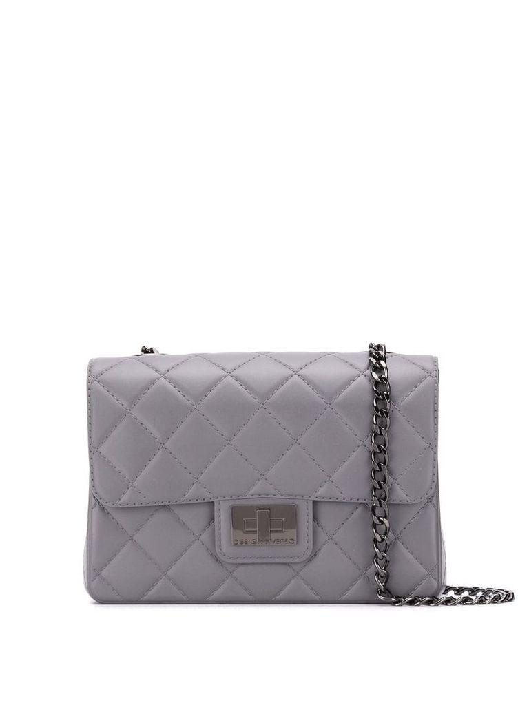 Designinverso Milano quilted shoulder bag - Grey