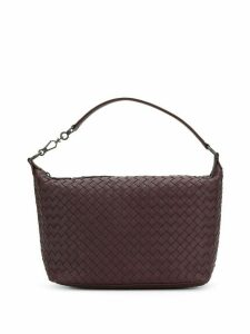 Bottega Veneta dark barolo Intrecciato nappa small shoulder bag - Red