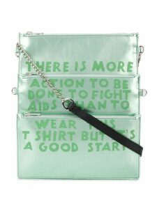 Mm6 Maison Margiela Charity AIDS-print shoulder bag - Green