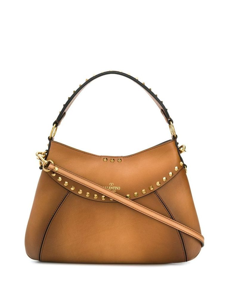 Valentino Valentino Garavani Twinkle Studs shoulder bag - Brown
