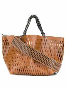Sonia Rykiel cut-out tote bag - Brown