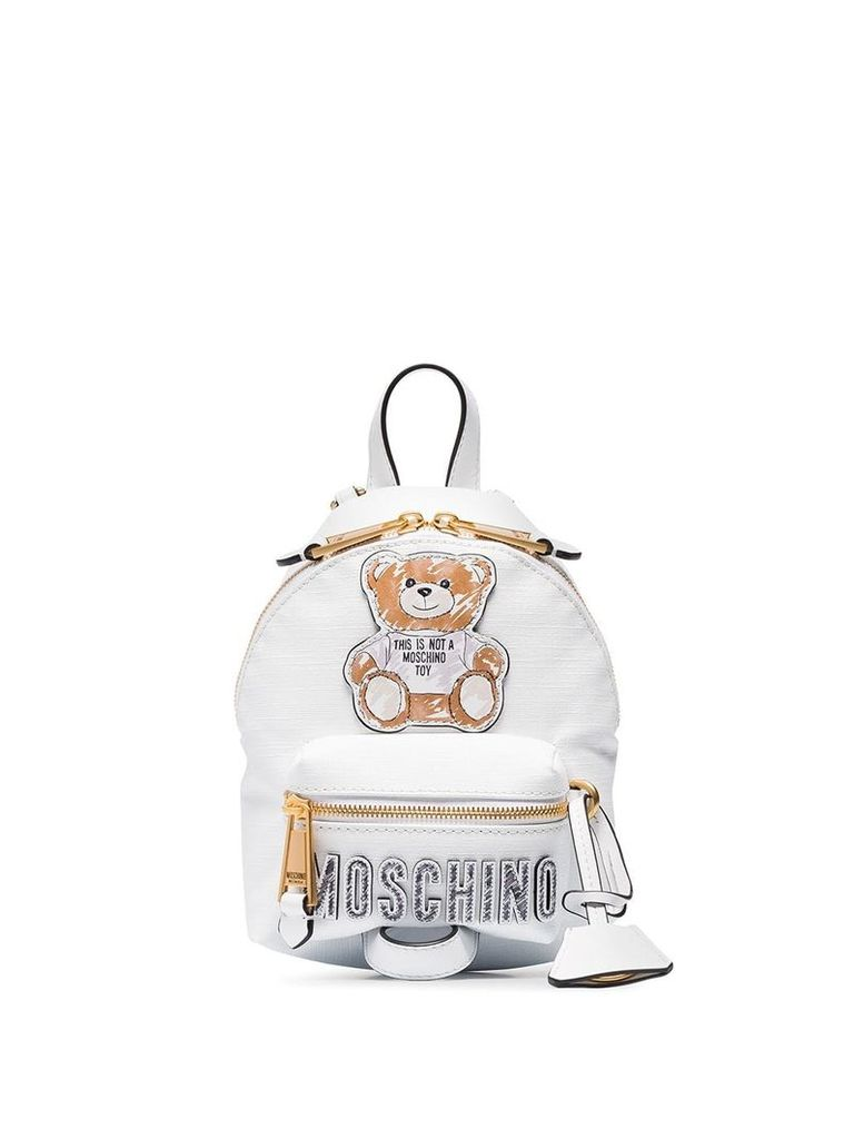 Moschino Teddy Bear backpack - White