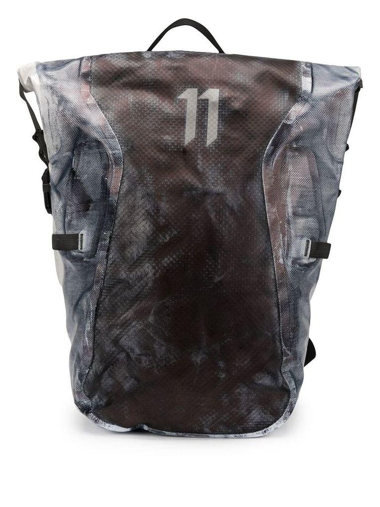 11 By Boris Bidjan Saberi distressed stained style backpack - Grey
