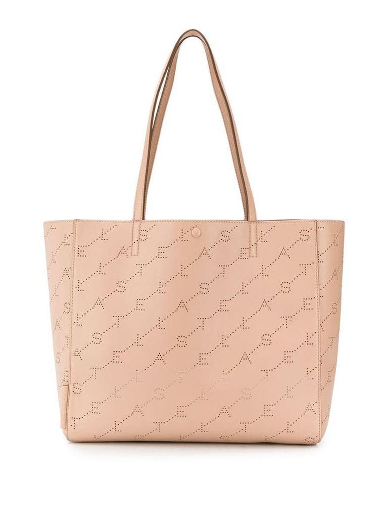 Stella McCartney monogram print tote bag - Pink