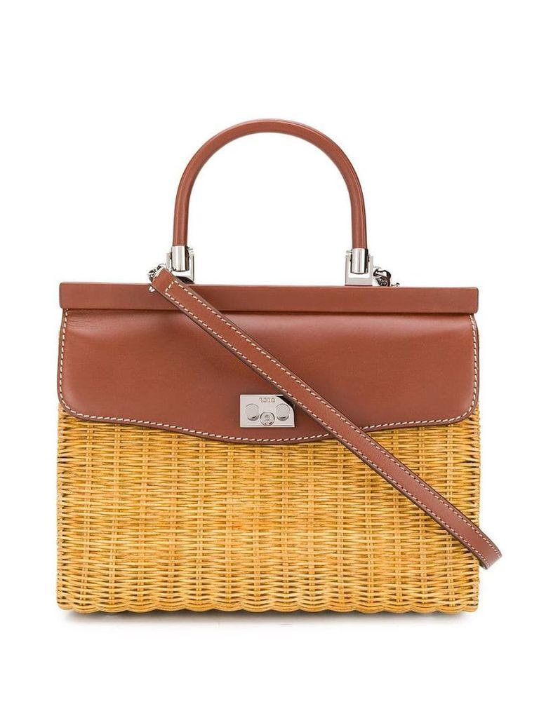 Rodo large basket tote bag - Brown